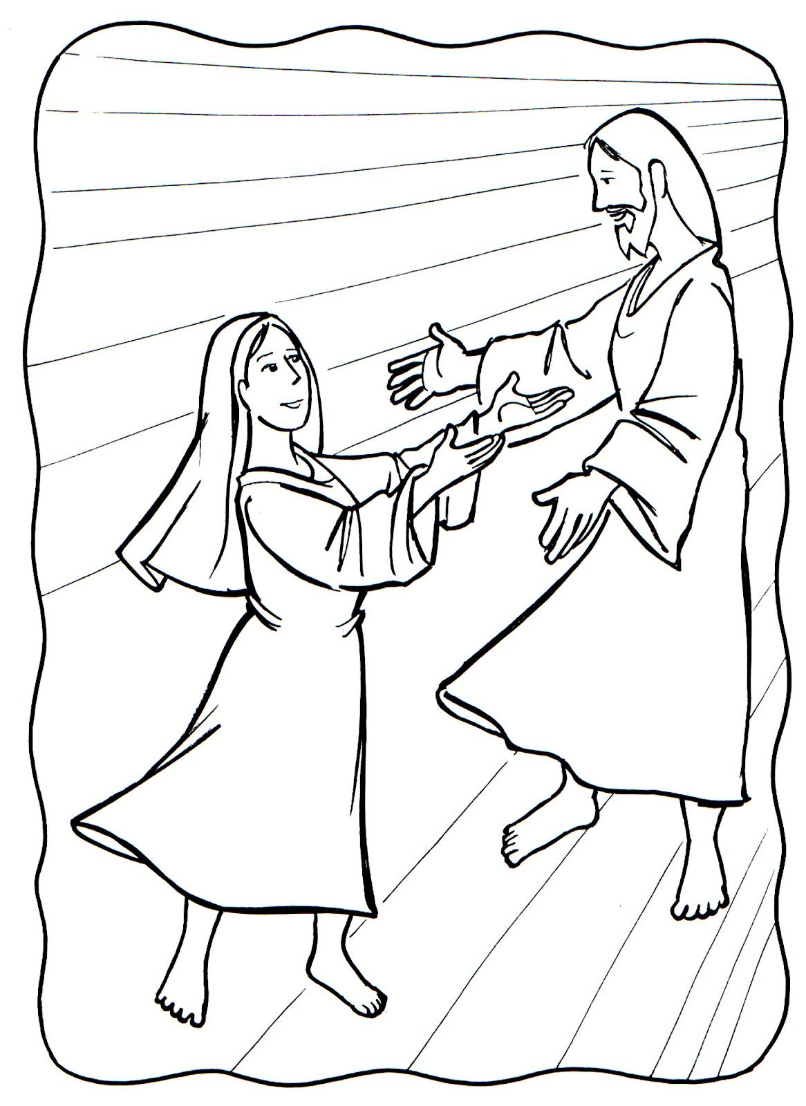 The Assumption Of Mary Coloring Page With Images Assumption Of