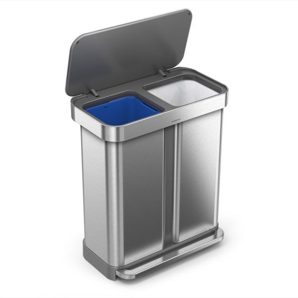 Neatly Sort Trash And Recyclables With Simplehuman S Versatile Line Of Dual Compartment Dedicated Recyclers