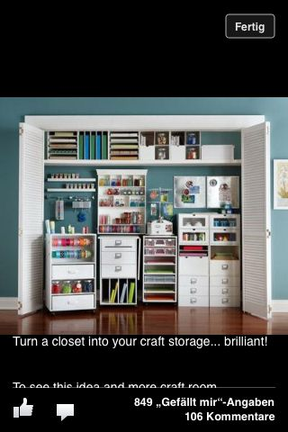 So Great Craft Room Closet Recollections Craft Room Storage