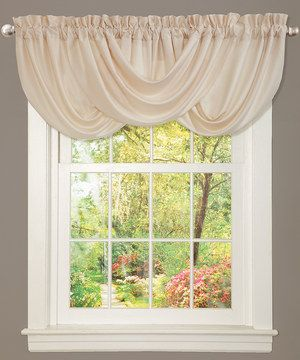 Add an element of sophisticated style to décor with this elegant window valance. With handcrafted draping and silky charmeuse fabric, this luxurious piece also features a convenient built-in pocket for quick installation.