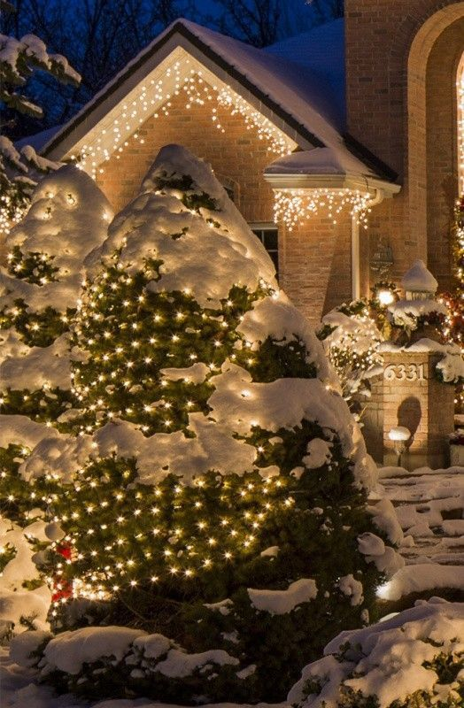 98+ Magical Christmas Light Decoration Ideas for Your Yard 2018