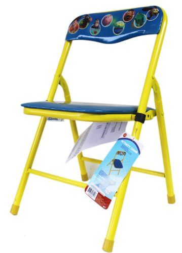 Terrific Yellow And Blue Toy Story Metal Folding Chair For Kids Caraccident5 Cool Chair Designs And Ideas Caraccident5Info