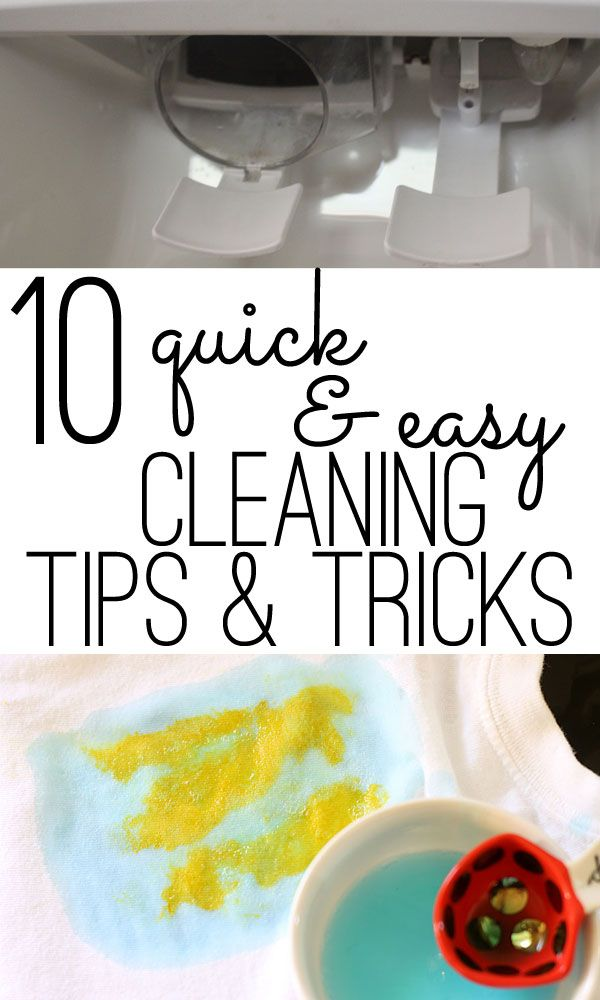 cleaning tips: 10 quick & easy ideas for all around the house | Easy ...