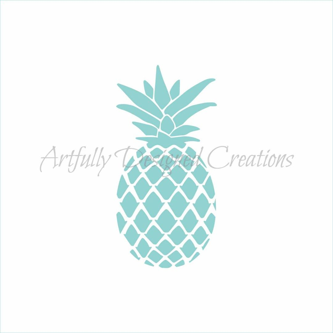 Pineapple Stencil   Stencils, Cake stencil, Pineapple  Cute Pineapple Stencil