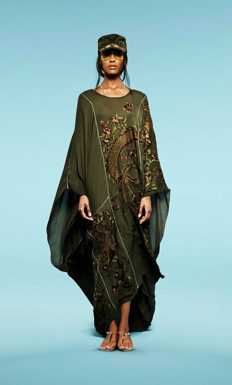 Emilio pucci asian inspired embroidered beaded silk dress caftan