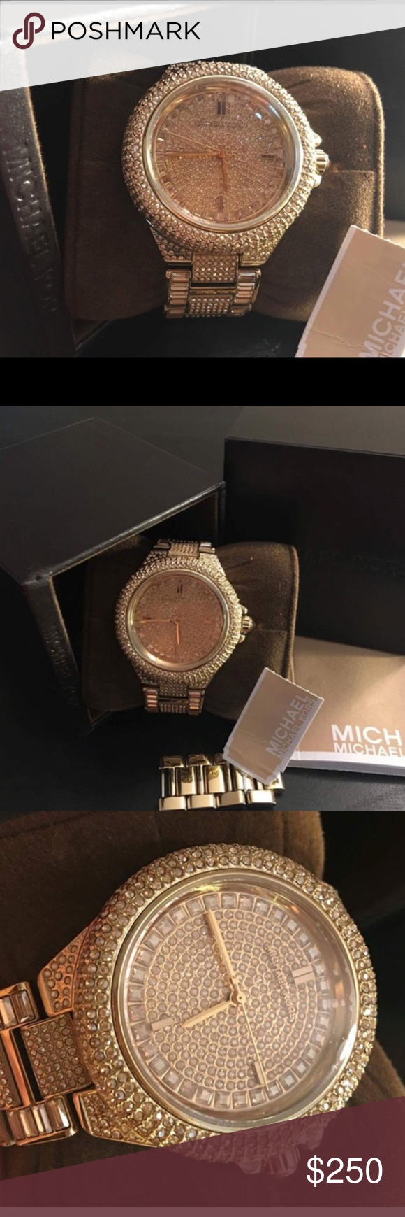 523474ae67d5 💎⌚️Michael Kors⌚ 💎Camille Gold Tone Watch 100% Authentic ...