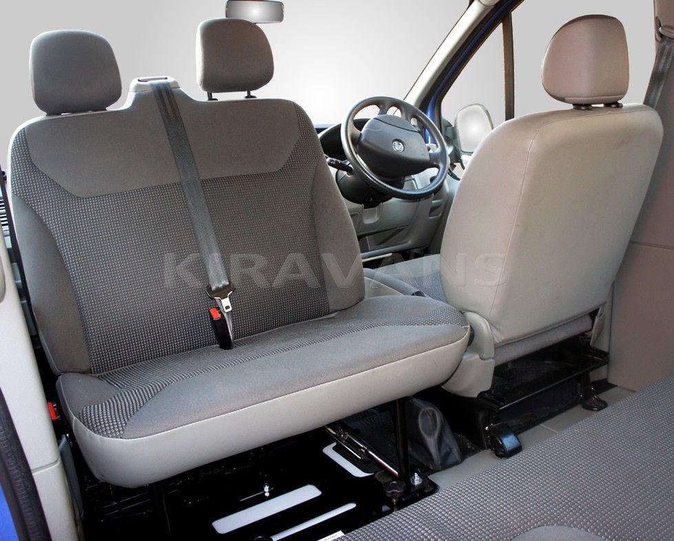 Trafic/Vivaro double seat swivel takes less than a minute to rotate