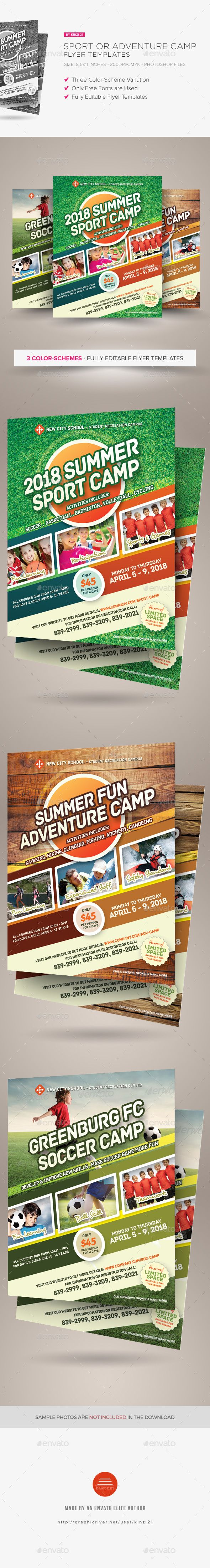 Sport Or Adventure Camp Flyers Pinterest Flyer Template