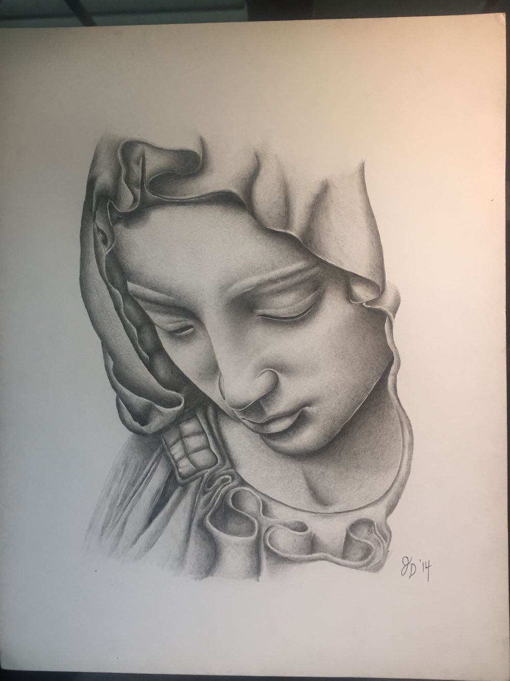 Virgin Mary done in acrylic pencil | My Art | Pinterest ...