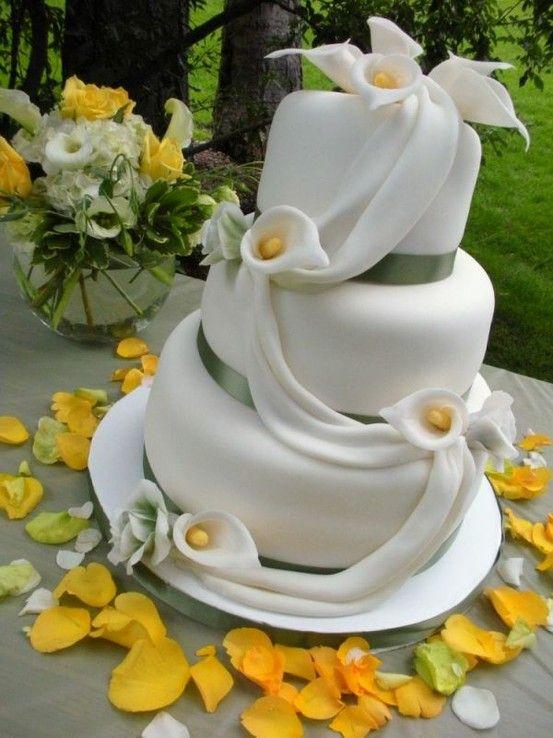 Hochzeitstorte deko calla