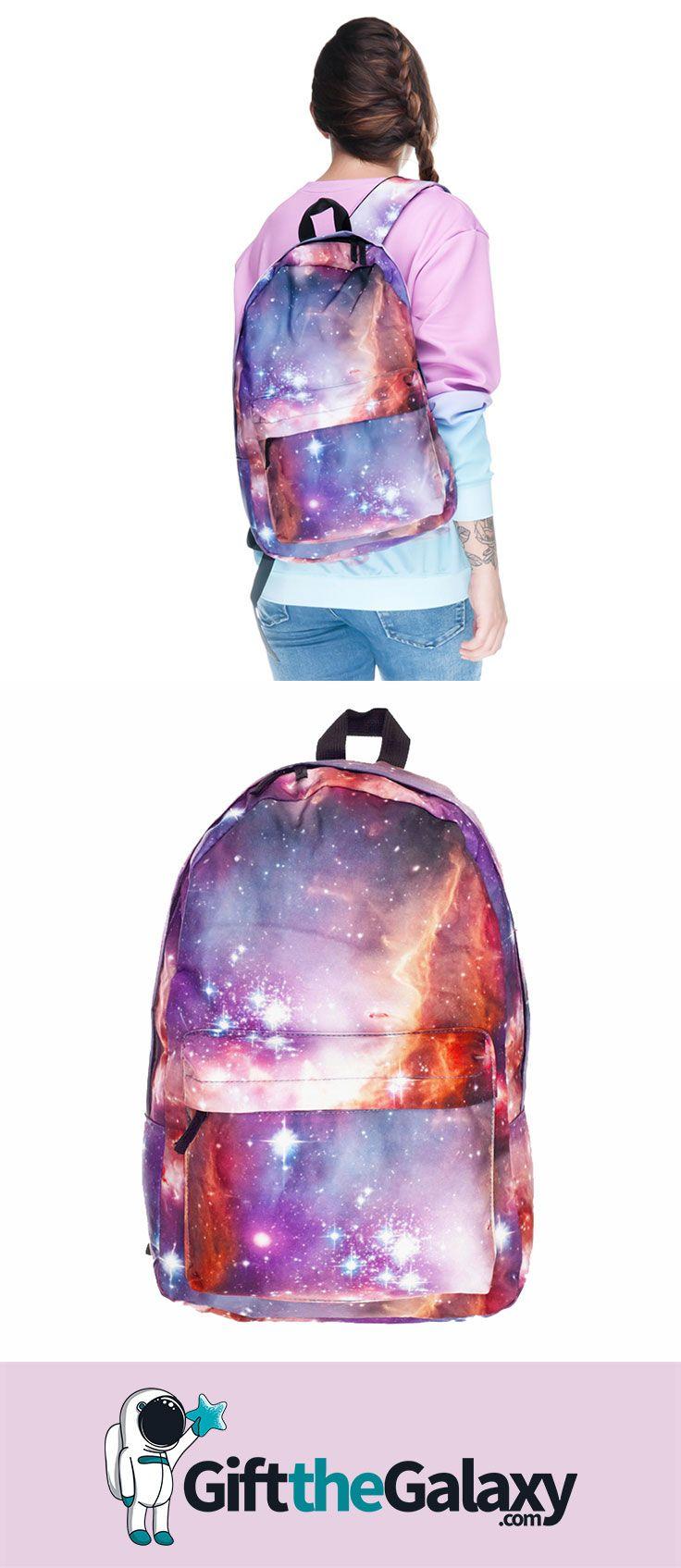 galaxy fashion shoulder backpack ($30) found on giftthegalaxy