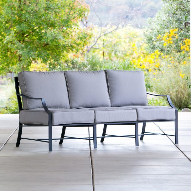 X-Back Sofa Taupe   Outdoor living, Outdoor, Deep seating