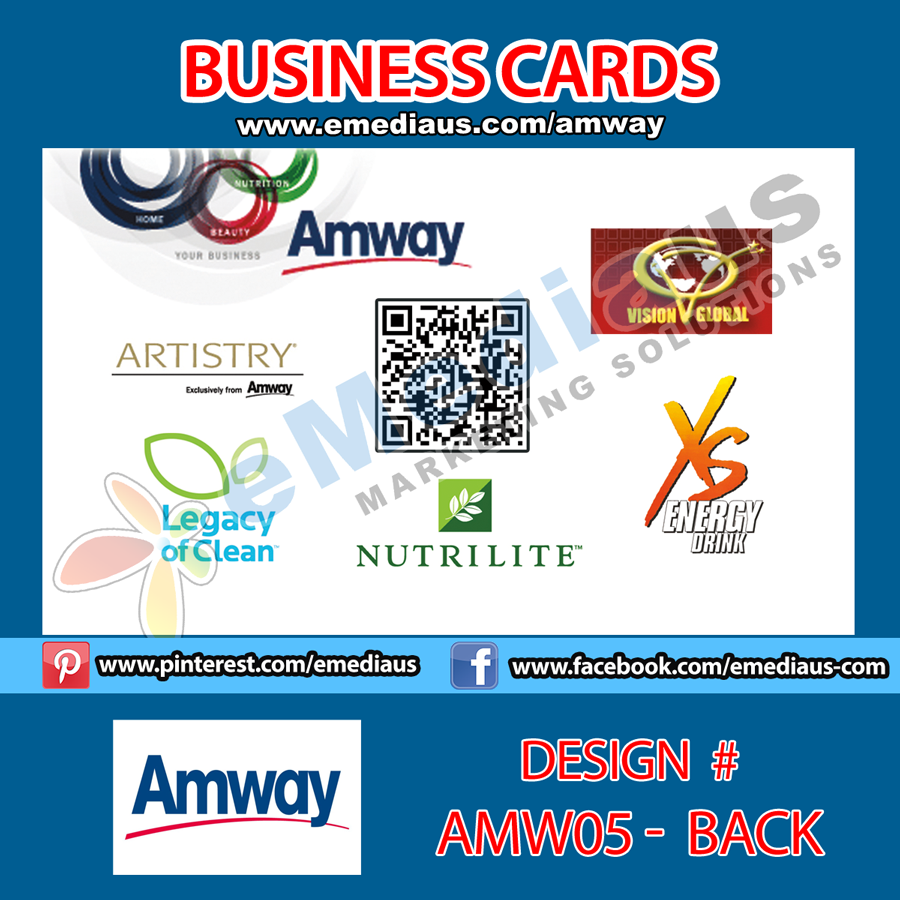 Amw05 back design business card 35 x 2 amway portfolio back design business card x 2 magicingreecefo Gallery