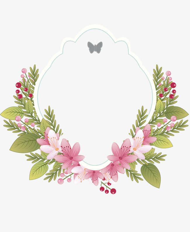 Floral Frame Frame Clipart Clipart Retro Floral Border Png And Vector With Transparent Background For Free Download Floral Embroidery Patterns Floral Painting Flower Png Images