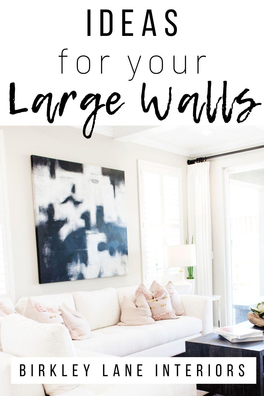 12 Affordable Ideas For Large Wall Decor Birkley Lane Interiors Large Wall Decor Living Room Big Wall Decor Large Wall Decor Bedroom