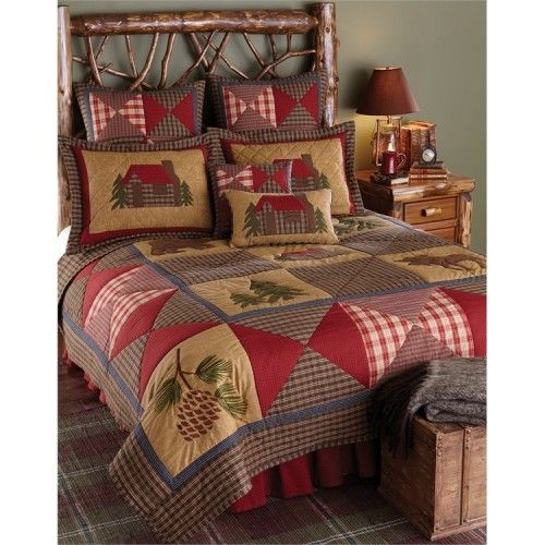 Country Cabin Quilts Schlafzimmer Pinterest Cabin, String