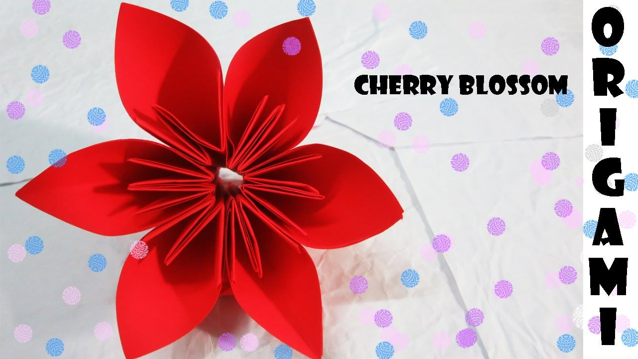 How to make origami cherry blossom flower easy step by step how how to make origami cherry blossom flower easy step by step jeuxipadfo Choice Image