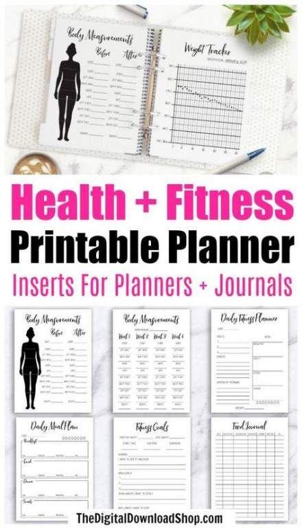 Best Fitness Planner Journals Etsy Ideas #fitness