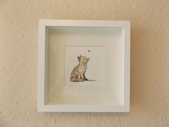 Hey, I found this really awesome Etsy listing at https://www.etsy.com/listing/227669873/fox-and-the-bee-original-illustration