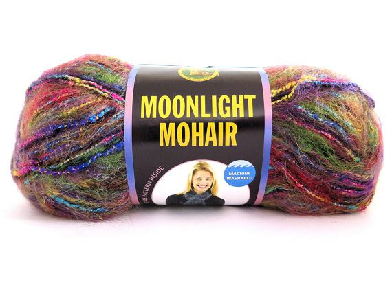Moonlight Mohair Yarn Rainbow Falls Lion Brand Craft Supplies #rainbowfalls