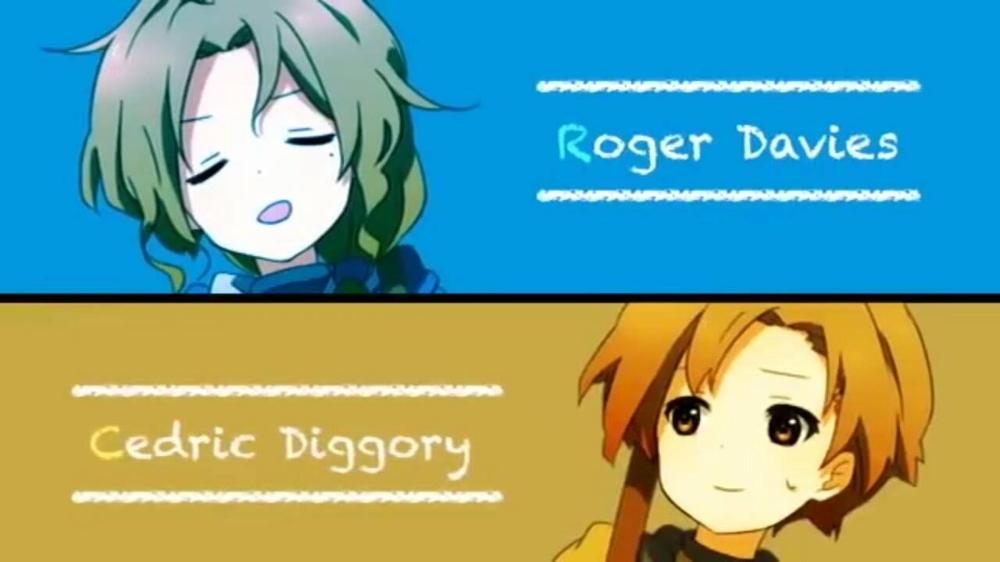 Roger Davies And Cedric Diggory Harry Potter Anime Harry Potter Universal Harry Potter Characters