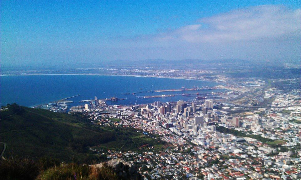 Cape Town city bowl, view from Lion's Head. Photo (c) Christine Rehm
