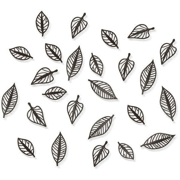 Umbra Leaf Wall Decor ($45) ❤ Liked On Polyvore Featuring Home, Home Decor