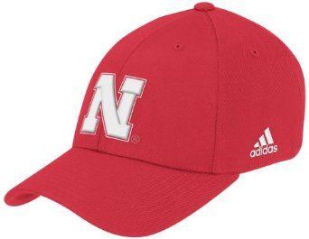 new products d6ca7 441c7 NCAA Nebraska Cornhuskers Flex Fit Hat, Large X-Large,red adidas.