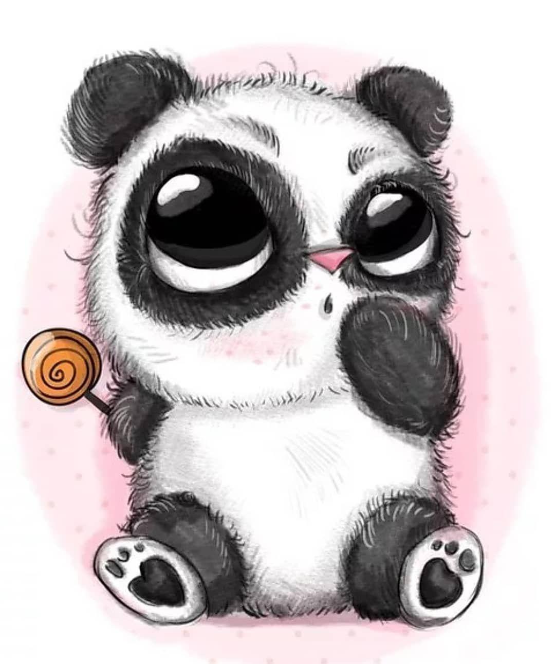 Днем, рисунки прикольной панды