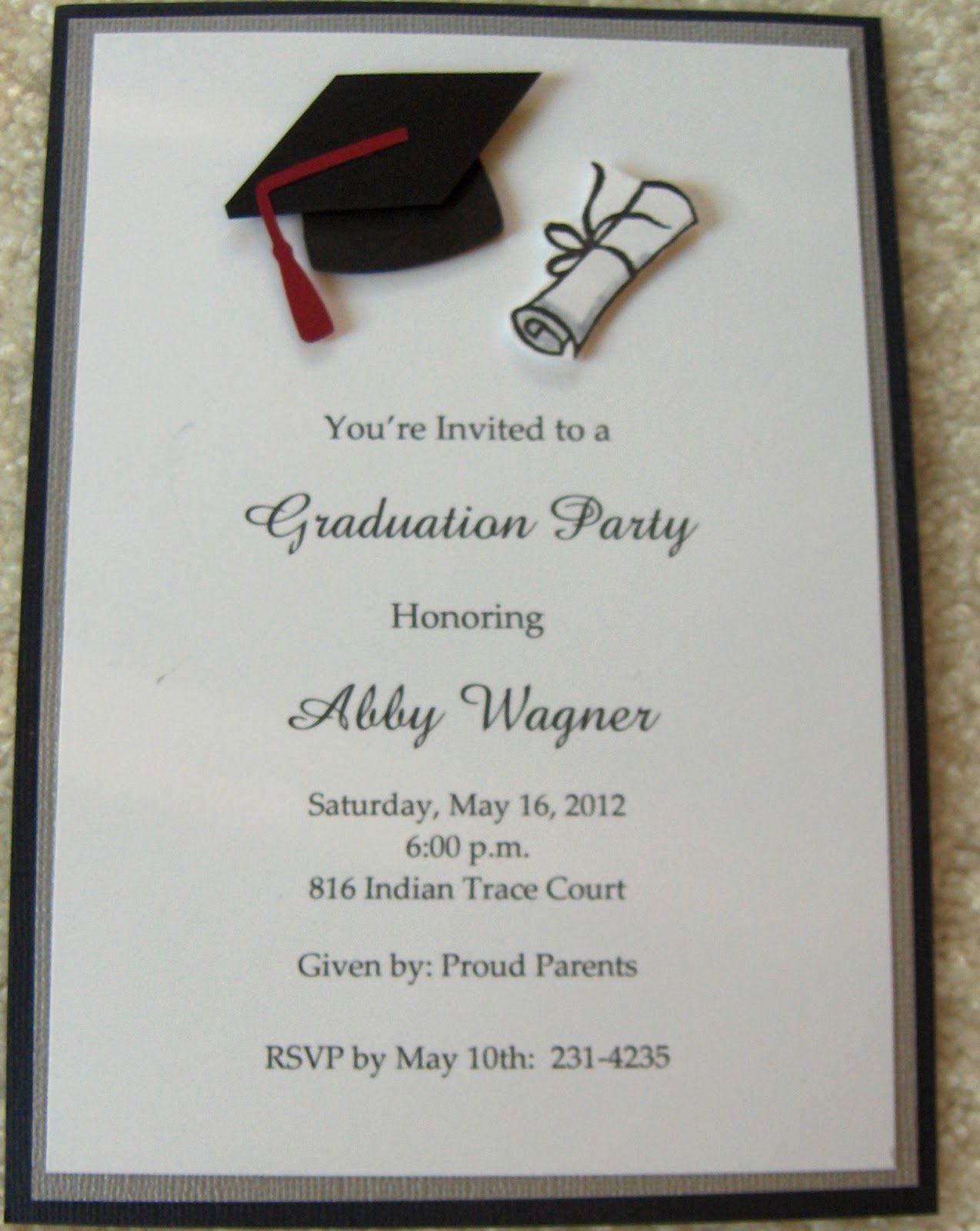 elegant-graduation-party-invitation-colors-formal-high-school ...
