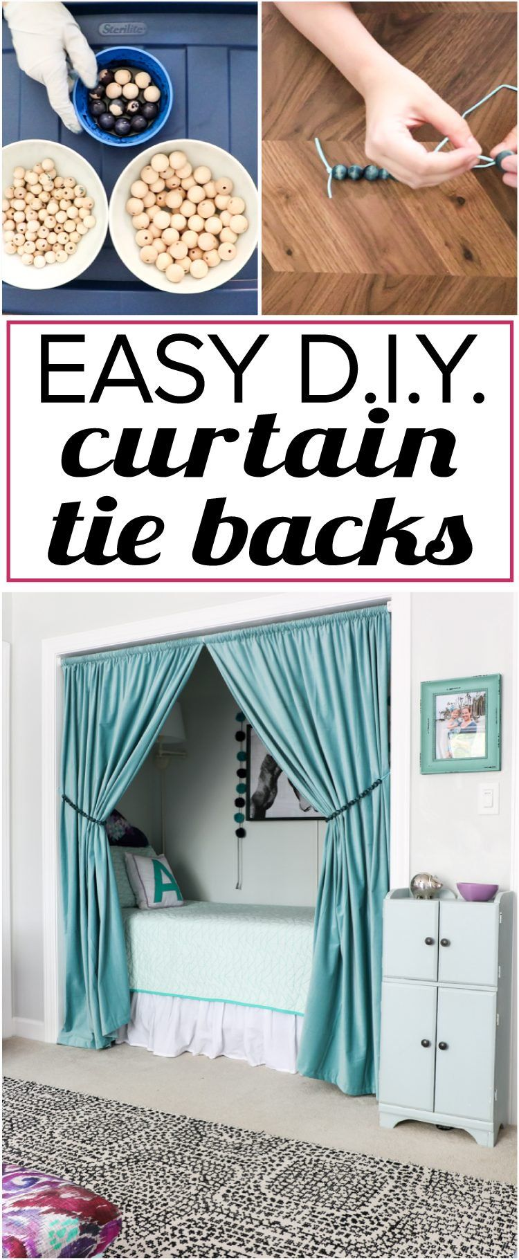 Quick And Easy Diy Curtain Tie Backs Curtain Tie Backs Curtain