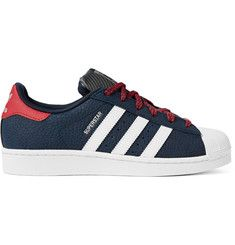 save up to 80% really comfortable big discount Adidas Originals Superstar Varsity Grained-Leather and ...
