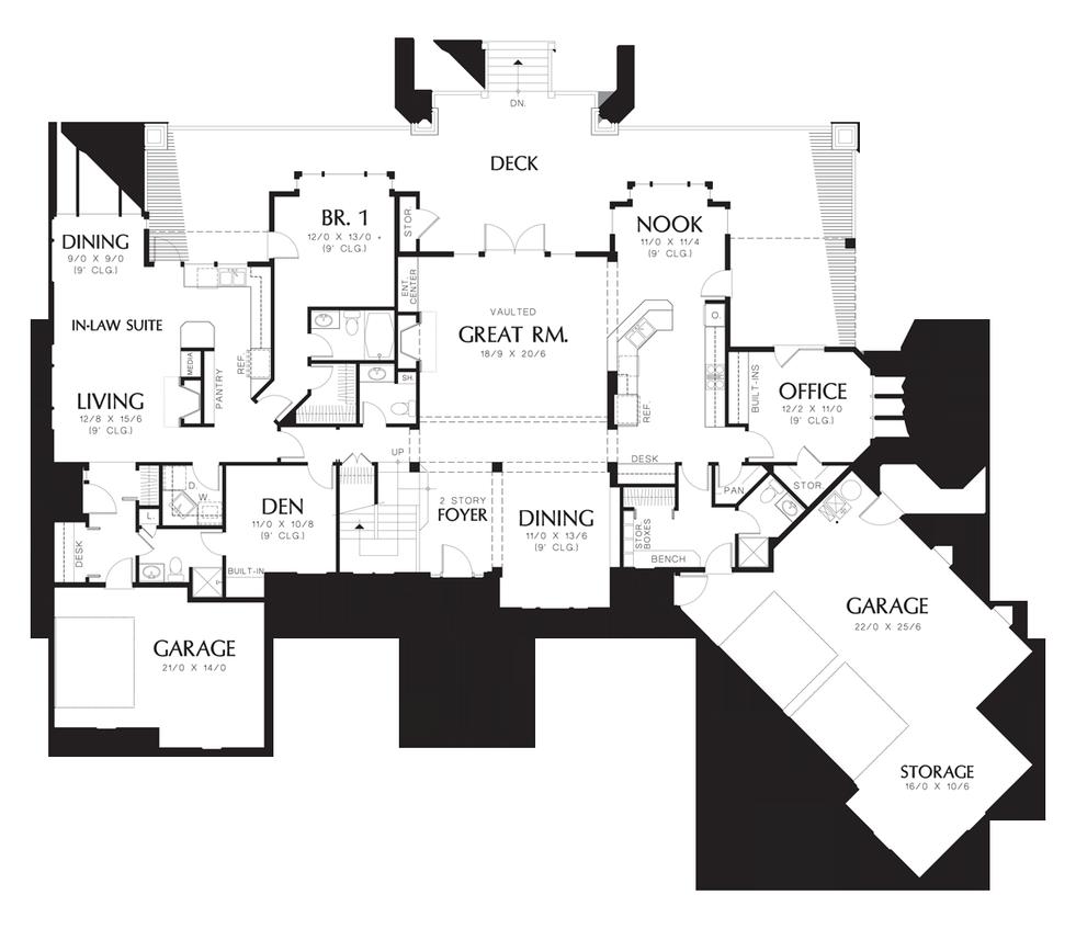 Mascord House Plan 2421 The Ingram House Plans One Story Shingle House Plans Two Story House Plans