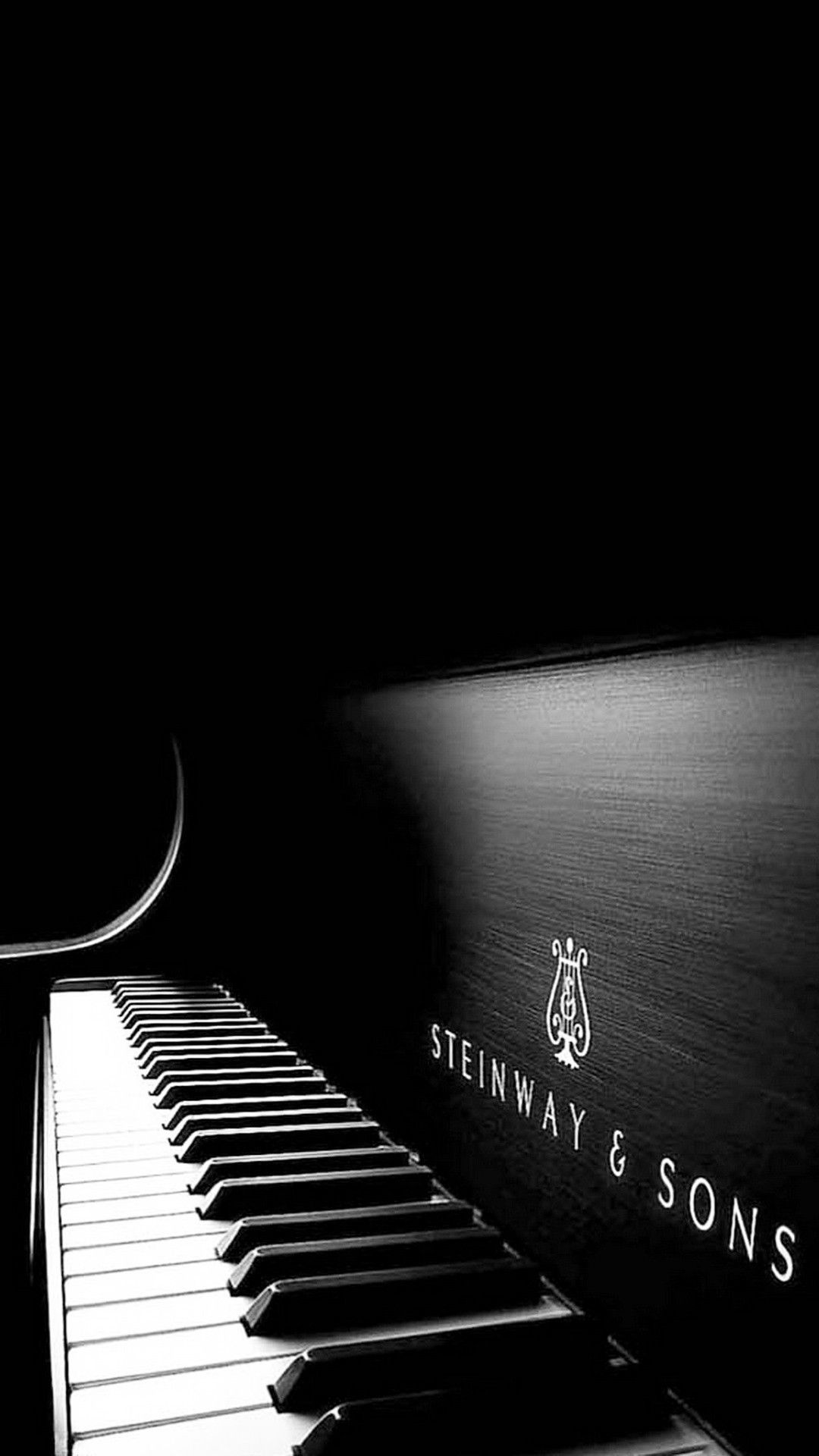 Steinway And Sons Black Piano Smartphone Wallpaper And Lockscreen