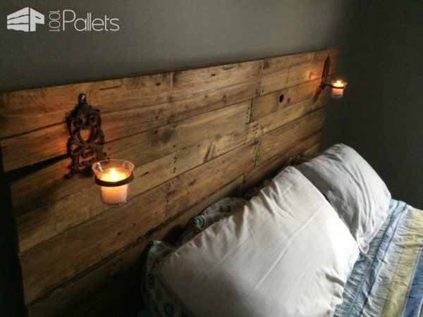 Pretty Plywood Backed Queen Sized Pallet Headboard 1001 Pallets