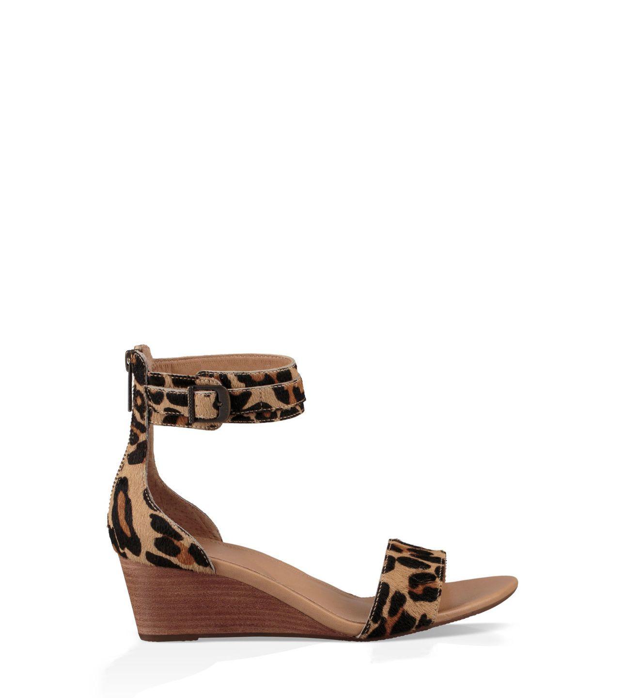 ugg leopard flip flops