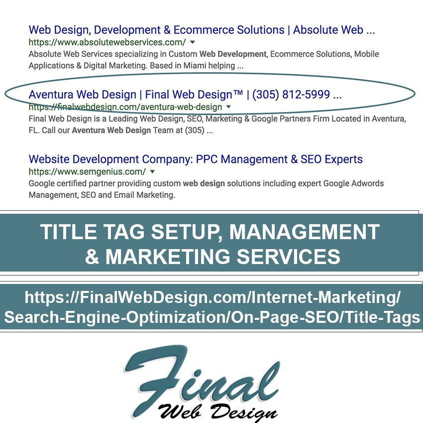 Title Tags Both Directly And Indirectly Play A Role In Your Websites Organic Rankings It S For This Very Ecommerce Solutions Internet Marketing Organic Search
