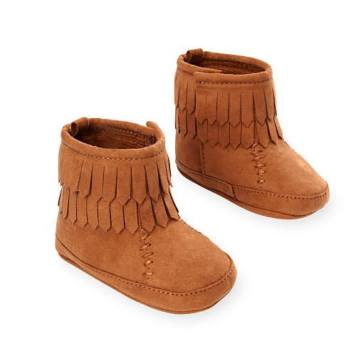 20277c40fdc6d Koala Baby Girls Soft Sole Brown Suede Fringed Boots - Babies R Us ...