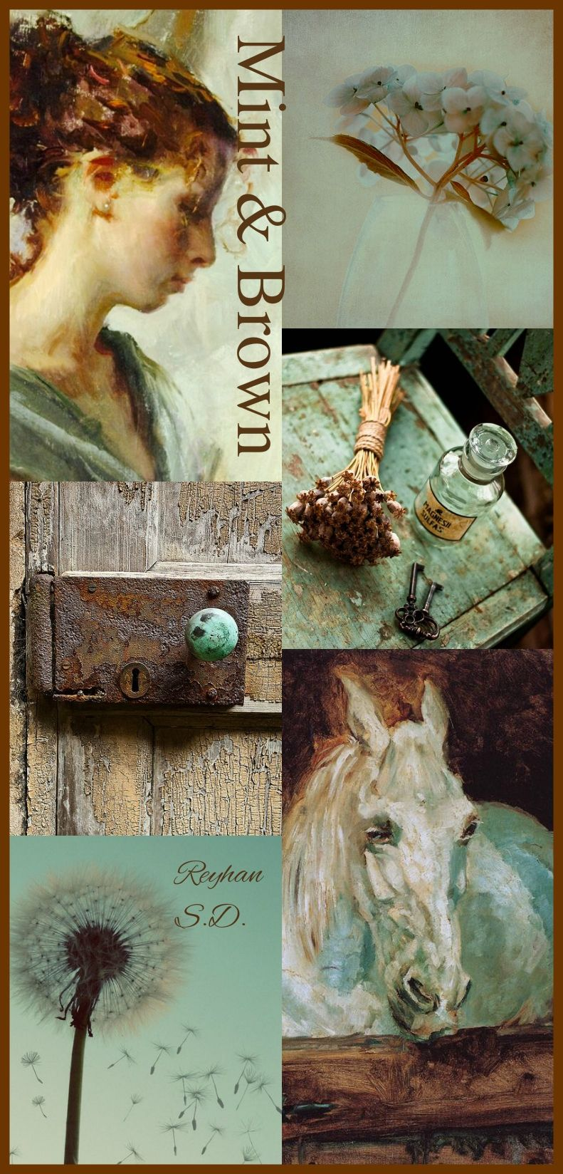 '' Mint & Brown '' by Reyhan S.D.