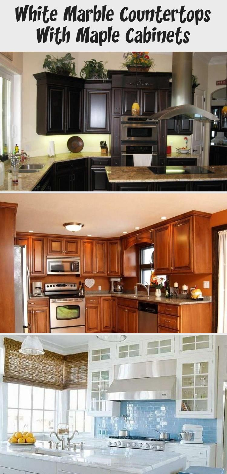 White Marble Countertops With Maple Cabinets | Maple ... on Maple Cabinets With White Granite Countertops  id=32313