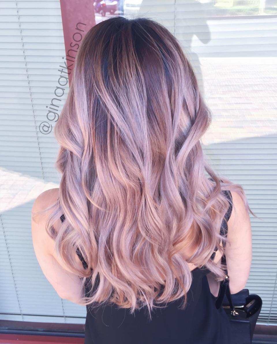 Transformation Low Maintenance Dusty Pink Balayage Hair Styles Hair Color For Black Hair Balayage Hair