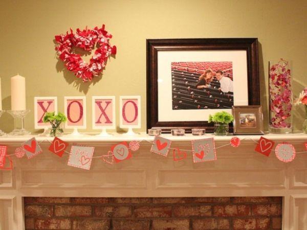 20 Gorgeous Valentineu0027s Day Mantel Décor Ideas | Decoration, Crafts And  Paper Decorations Amazing Ideas