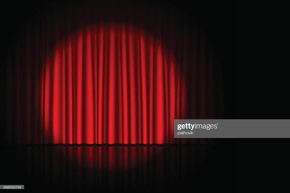 Stage With Red Curtain And Spotlight On It Theater Circus Or Cinema Curtains