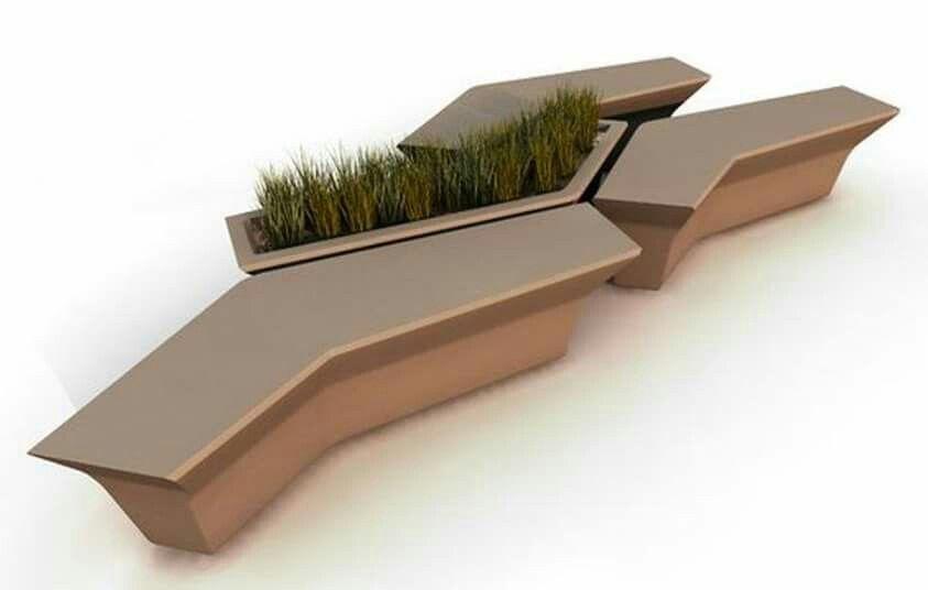 Banca dise o urbano moviliario urbano jardinera for Mobiliario espacio publico