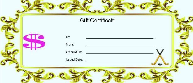 Hockey gift certificate template hockey certificate templates 25 printable hockey certificate templates for kids youth professional players demplates yadclub Images