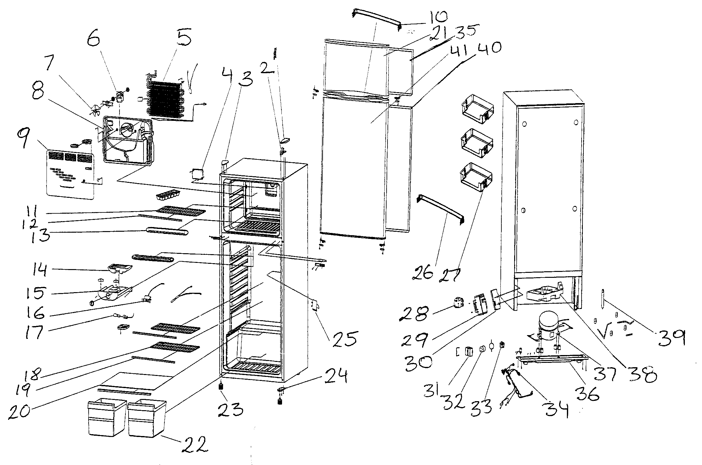 refrigerator diagram parts list for model mcbr1020w magic chef rh pinterest com samsung refrigerator parts diagram jenn air refrigerator parts diagram