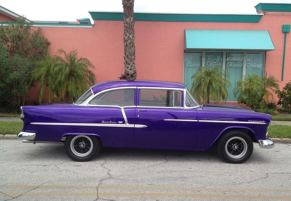 Purple People Eater 1955 Chevy Belair 2dr
