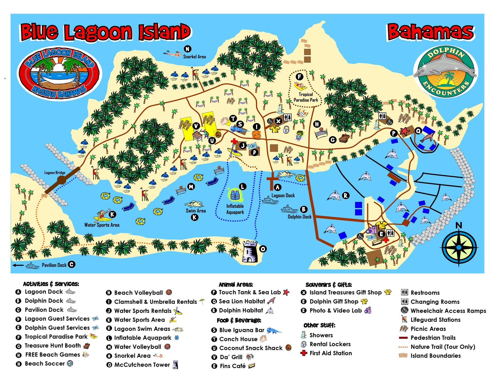 Parkmap Dolphin Encounters Blue Lagoon Island Bahamas