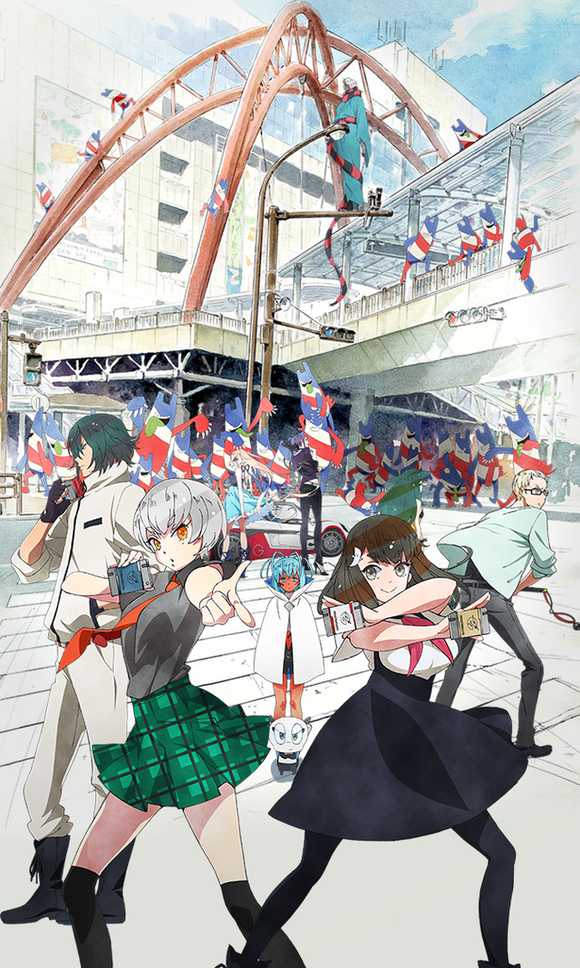 """""""Gatchaman Crowds Insight"""" Visual Updated With Cast"""