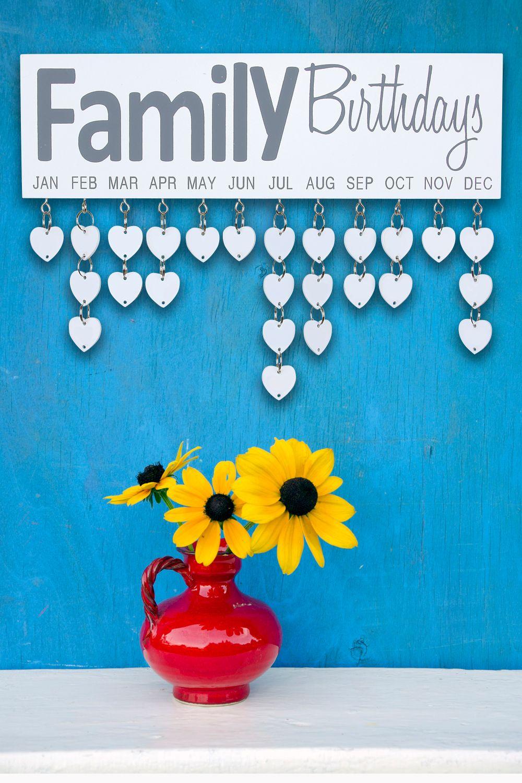 The Family Birthdays Wall Piece organizes the birthdays of